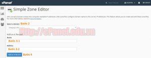 Hướng dẫn sử dụng chức năng Simple Zone Editor để tạo bản ghi DNS