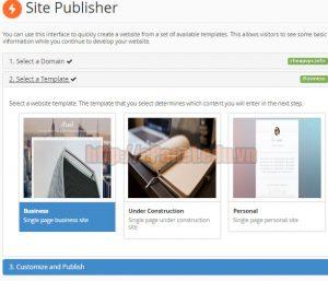 Hướng dẫn tạo trang web tĩnh với chức năng Site Publisher của cPanel