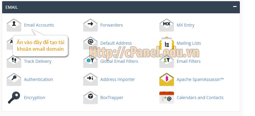 Truy cập trang quản lý Email trên host cPanel