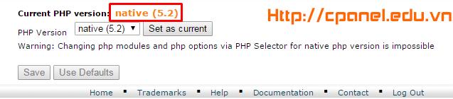 Đây là phiên bản PHP hiện tại của bạn