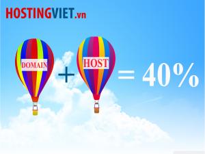 Giảm 40% Hosting + tên miền tại HostingViet.vn