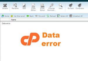 Truy cập vào File Manager bị lỗi Data Error trên host cPanel? Nguyên nhân và khắc phục!