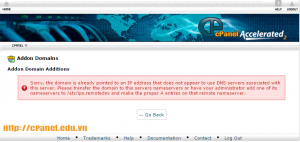 Hướng dẫn khắc phục lỗi Sorry, the domain is already pointed to an IP address cPanel